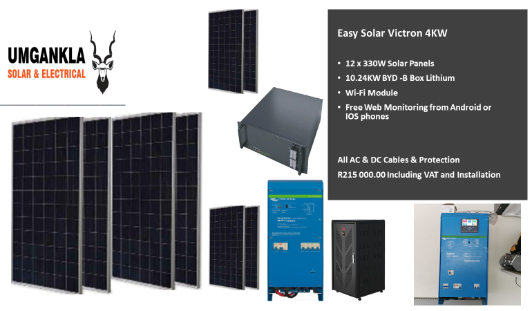 Easy Solar Victron 4KW - Including Installation